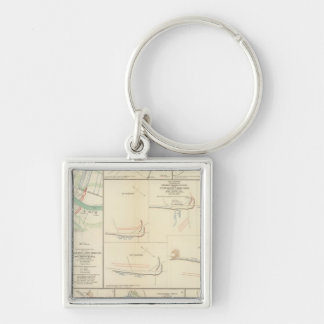 Approaches to New Orleans Silver-Colored Square Keychain