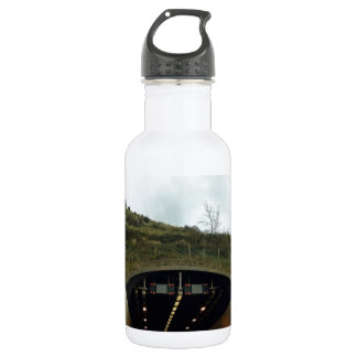 Approaching a tunnel on a highway 18oz water bottle