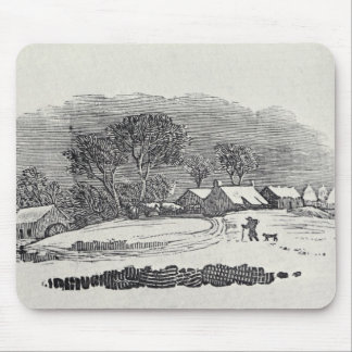 Approaching a Village in the Winter Mouse Pad