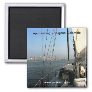 Approaching Cartagena, Colombia Magnet