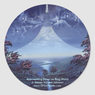 Approaching Dawn on Ring World, Approaching Daw... Round Sticker