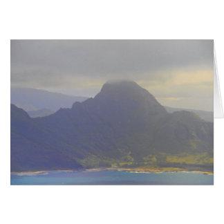 Approaching Kauai Hawaii Card