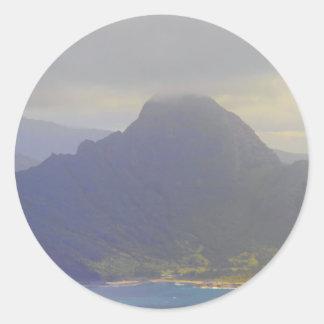 Approaching Kauai Hawaii Classic Round Sticker