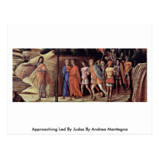 Approaching Led By Judas By Andrea Mantegna Post Card