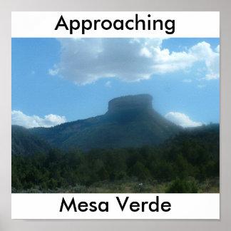 Approaching Mesa Verde Poster