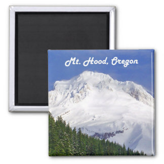 Approaching Mt. Hood 2 Inch Square Magnet