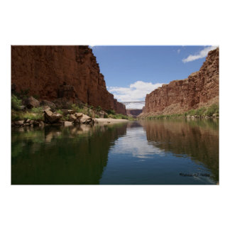 Approaching Navajo Bridges Poster