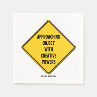 Approaching Object With Creative Powers (Sign) Paper Napkin