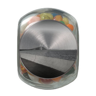 Approaching The Skyway Glass Jar