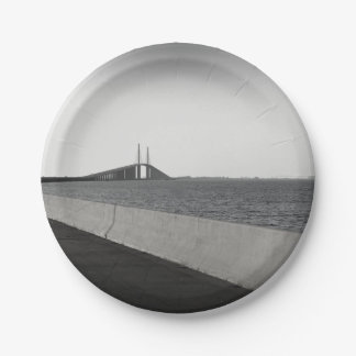 Approaching The Skyway Paper Plate