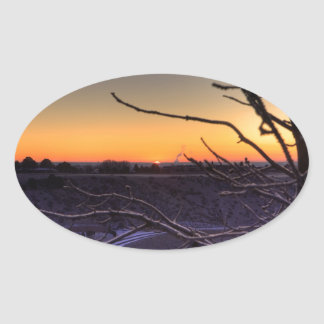 Approaching Warmth Oval Sticker