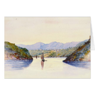 Approaching West Point New York 1846 Card