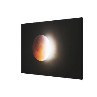 Approching el eclipse total de la luna lona envuelta para galerias