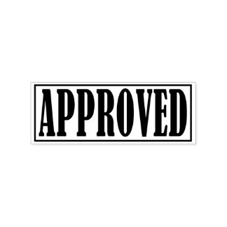 Approved Accepted Business Office Framed Simple Rubber Stamp