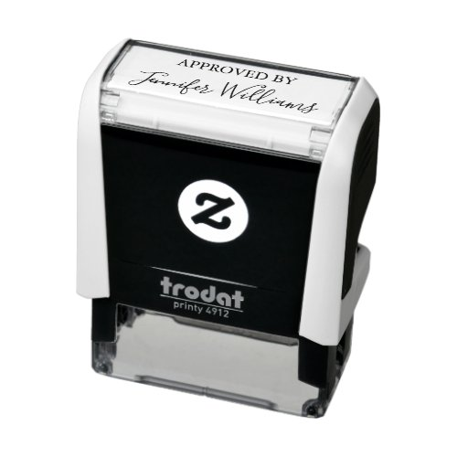 Approved By Custom Signature Personalized Self_inking Stamp