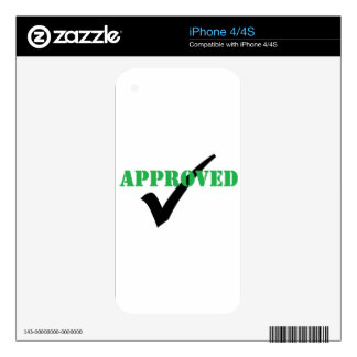Approved - Check Decal For iPhone 4