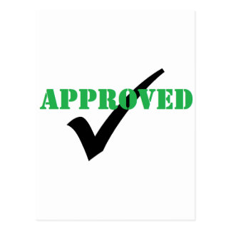 Approved - Check Postcard
