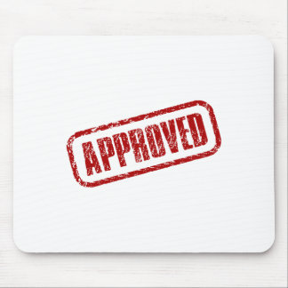 Approved design stamp mouse pad