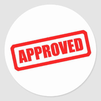 Approved Stickers 2 000 Custom Designs Zazzle
