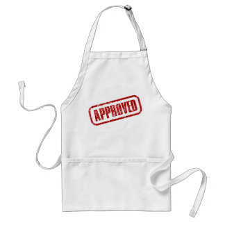 Approved stamp adult apron