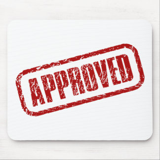 Approved stamp mouse pad