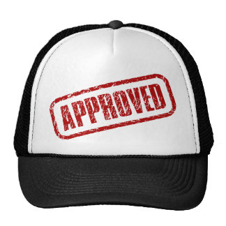 Approved stamp trucker hat