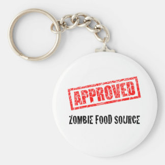 APPROVED Zombie Food Source Basic Round Button Keychain