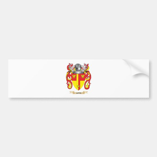 Apps Coat of Arms (Family Crest) Car Bumper Sticker
