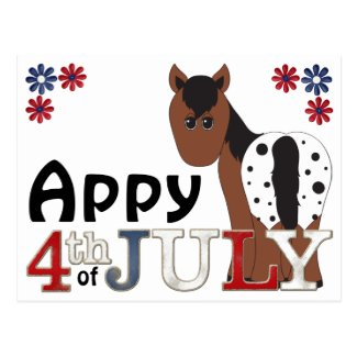 Appy 4th of July Appaloosa Horse Post Card
