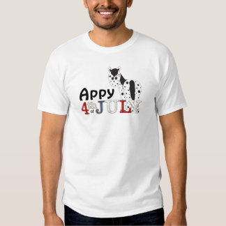 Appy 4th of July Appaloosa Horse Shirt