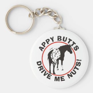 Appy Butts Drive Me Nuts Basic Round Button Keychain
