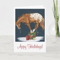 Appy Holidays! Appaloosa Christmas Card