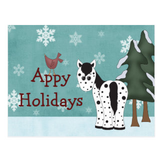 Appy Holidays Horse Christmas Greeting Post Card