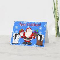 Appy Holidays Santa and Appaloosa Horses Christmas Holiday Card