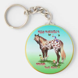 'Appy Valentine's hey chain Basic Round Button Keychain