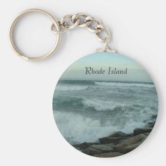 Apr508 014, Rhode Island Llavero Redondo Tipo Pin