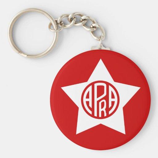 Apra, Colombia flag Basic Round Button Keychain