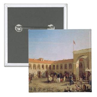 Apraksin Market in St. Petersburg, 1862 Button