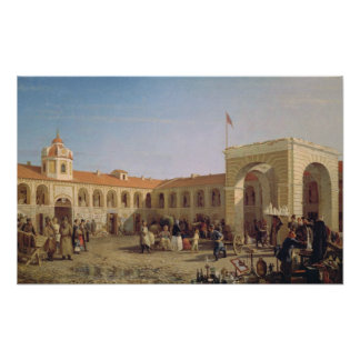 Apraksin Market in St. Petersburg, 1862 Poster