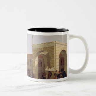 Apraksin Market in St. Petersburg, 1862 Two-Tone Coffee Mug