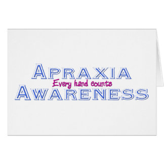Apraxia Awareness Card