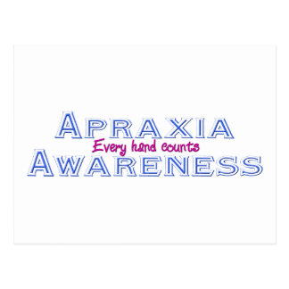 Apraxia Awareness Postcard