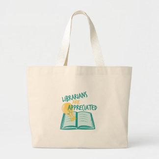 Aprecian a los bibliotecarios bolsa tela grande