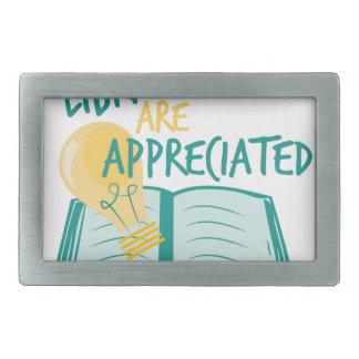 Aprecian a los bibliotecarios hebillas de cinturón rectangulares
