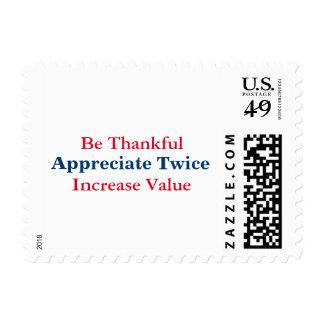 Aprecie dos veces los sellos
