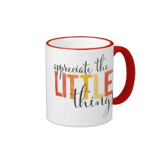 """""""aprecie las tazas diarias de las pequeñas"""
