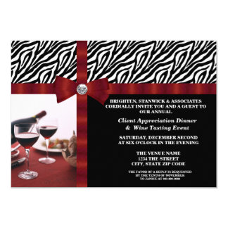Aprecio corporativo del cliente del acontecimiento invitación 12,7 x 17,8 cm