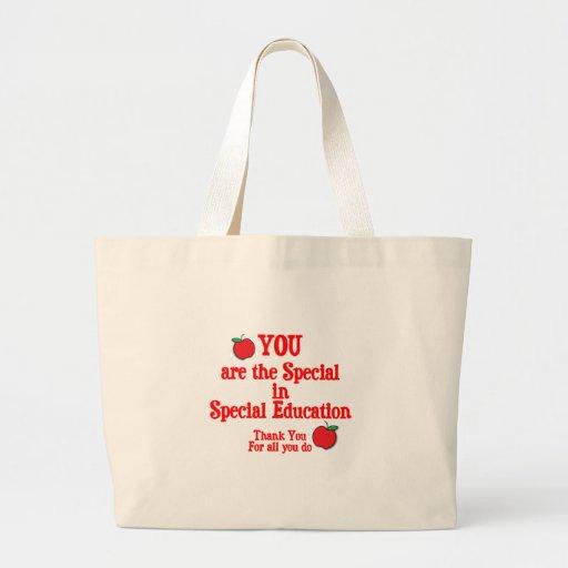 Aprecio de la educación especial bolsa tela grande