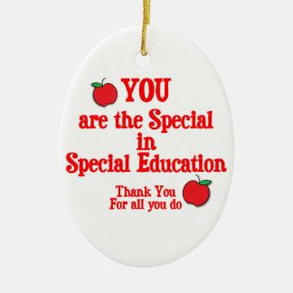Aprecio de la educación especial adorno de navidad