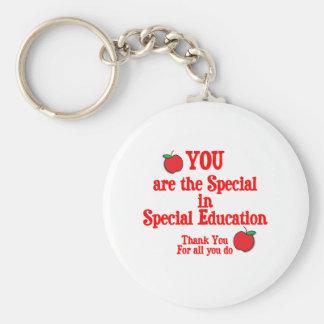 Aprecio de la educación especial llavero